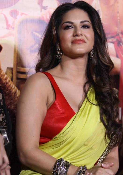 Sunny Leone Hot Stills In yellow Saree