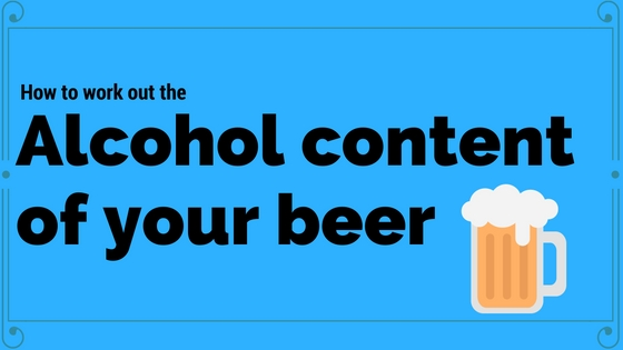 work out alcohol content of beer