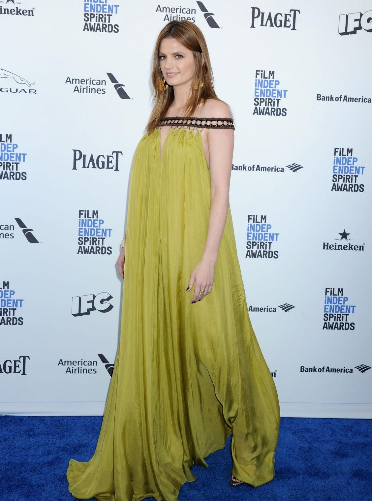 Stana Katic at Film Independent Spirit Awards in Santa Monica