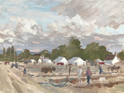 #229 'The Plowing Match' 9×12″