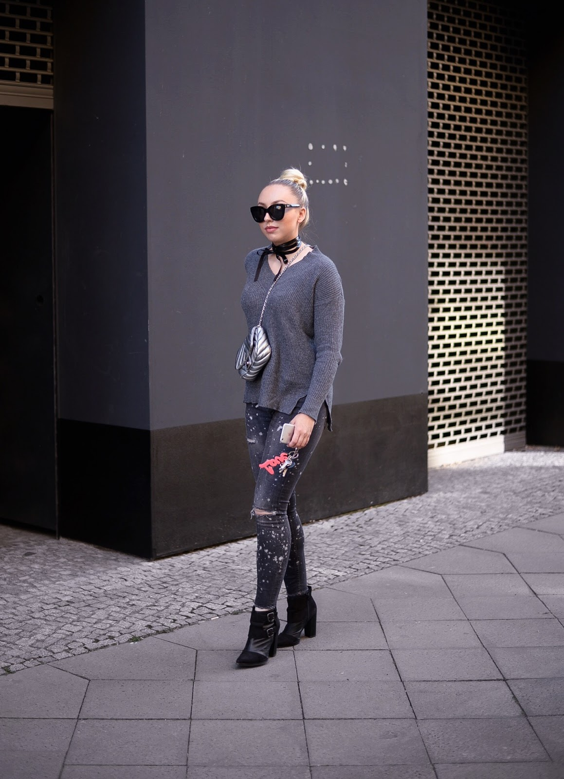 all grey outfit for fall