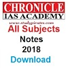 Chronicle IAS Academy Notes