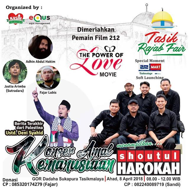 Keseruan Konser Amal Kemanusiaan di Kota Tasikmalaya dalam rangka Tasikmalaya Rajab Fair