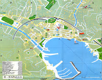Rapallo Map. Liguria, Italy.