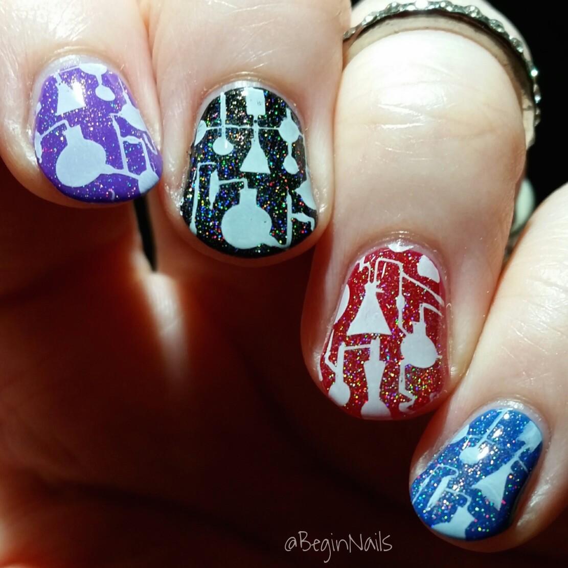 Let S Talk Nail Art: Let's Begin Nails: It Girl Nail Art IG110 Plate Manis Part 1