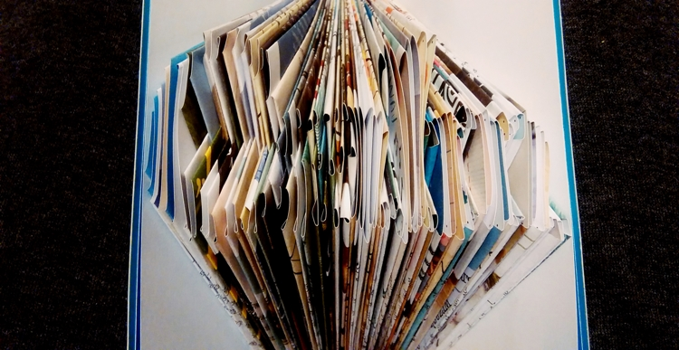 calm folded book
