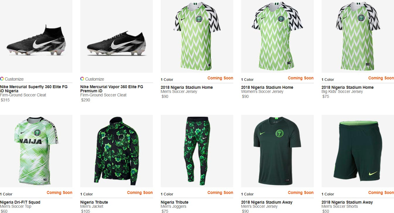 100% authentic 0a9f6 f6d45 Nike to Restock Full Nigeria 2018 World Cup Collection ...