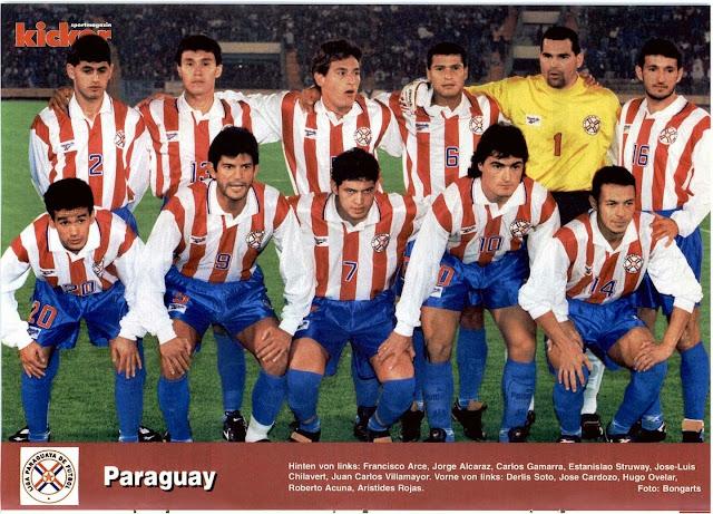 Formación de Paraguay ante Chile, Copa América 1997, 11 de junio