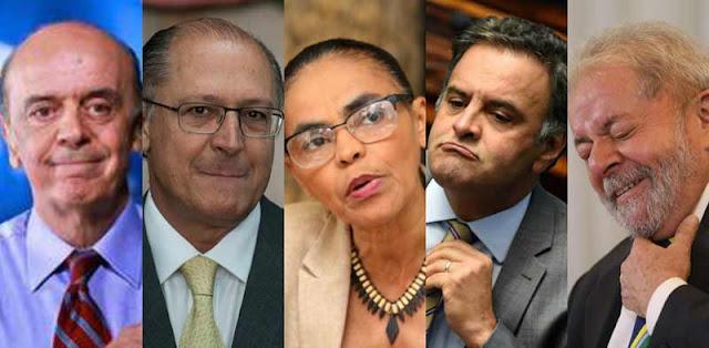Lula, Aécio Neves, Geraldo Alckimin, José Serra e Marina Silva foram citados na Lava Jato