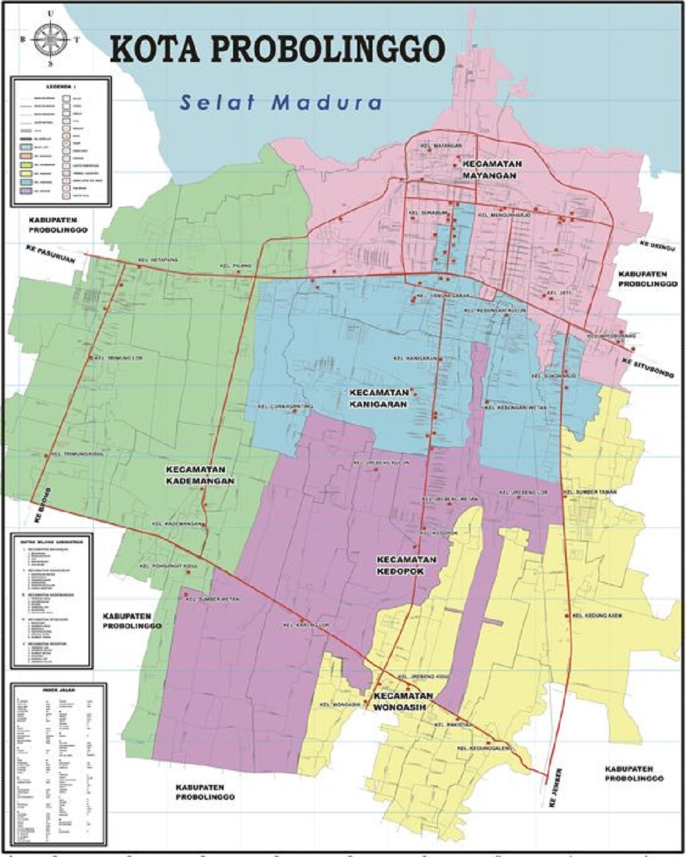 Peta Kota Probolinggo