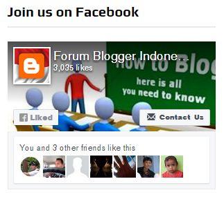 Cara Mudah Pasang Fans Page Like Box di Sidebar Blogger