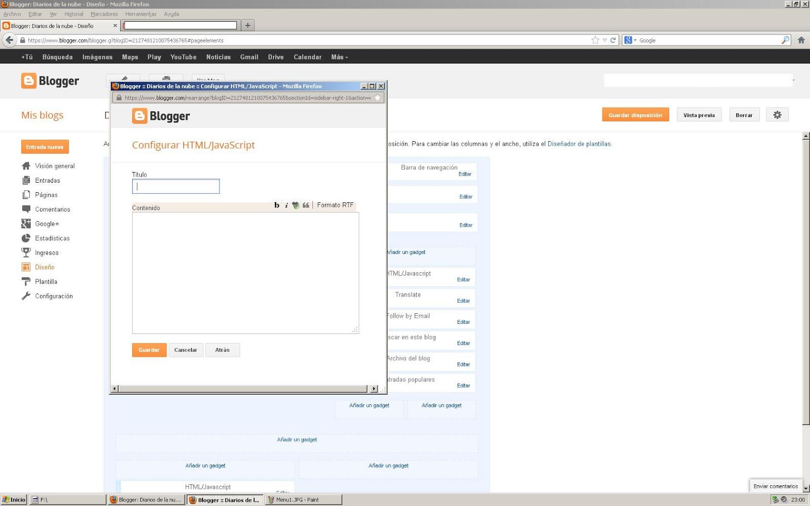Aprende a crear un Menú sencillo con Blogger, organiza tus ...
