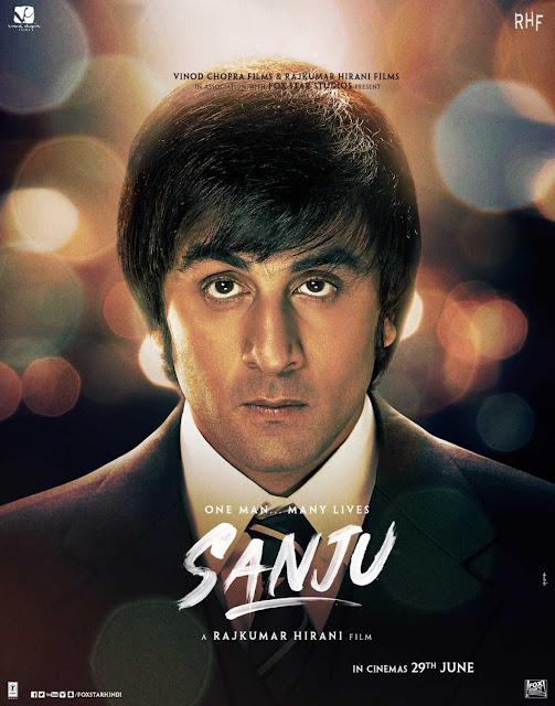sanju movie retro look ranbeer kapoor poster