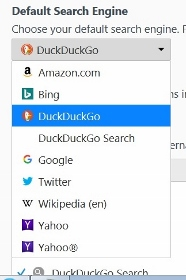 how to reset Firefox right-click search menu option
