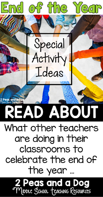 Special out of the box ideas for end of the year activities that will help students stay focused until the end - from the 2 Peas and a Dog blog.