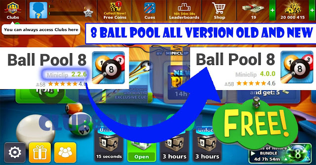 8 ball pool all version Old and new