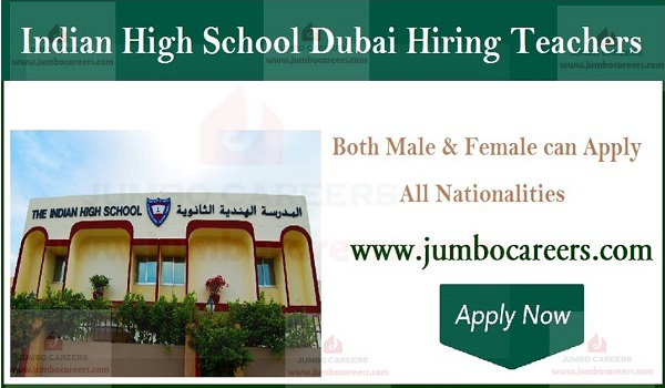 Teachers job openings in Dubai, Current UAE teaching jobs,
