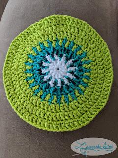 L'accroche laine - Protège poêle tranche de kiwi