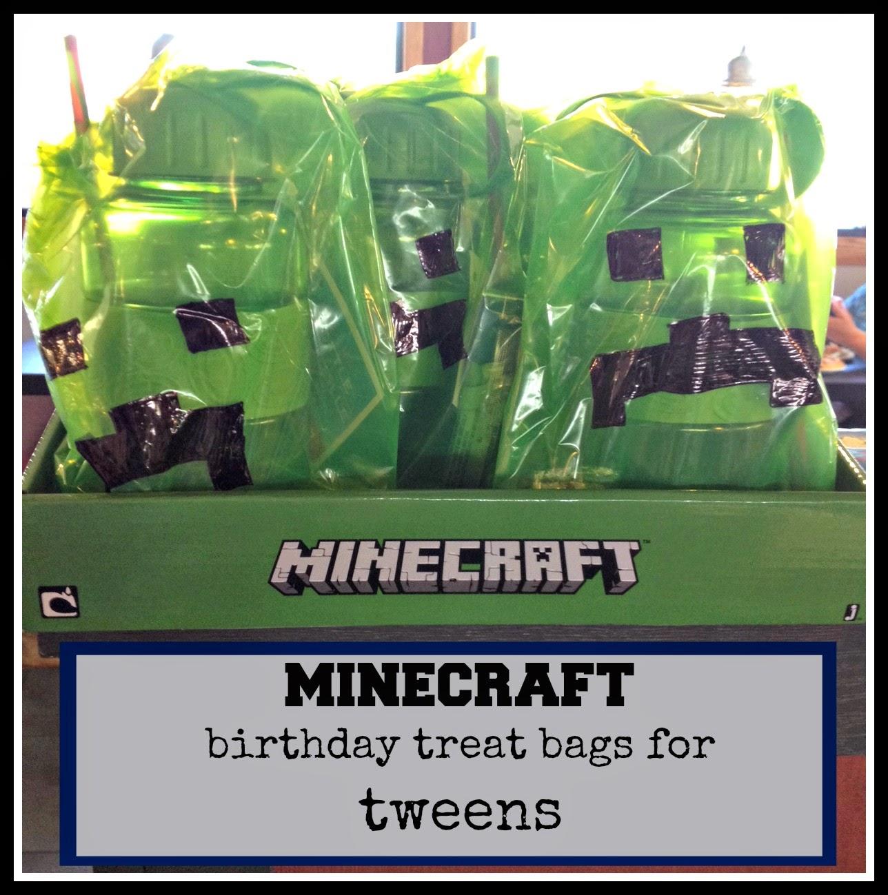 Zucchini Summer: Minecraft Birthday Party Favors