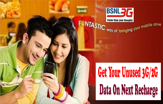 Accumulation of Unutilized Data usage in BSNL 3G/2G Prepaid Data STVs: Doubts & Clarifications