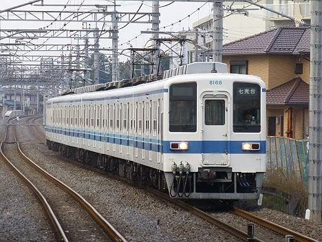 東武野田線 七光台行き 8000系8168F