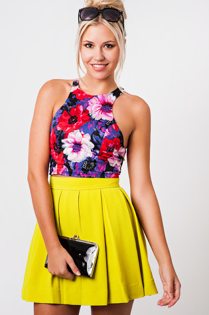 Zukoh Lime Skater Skirt