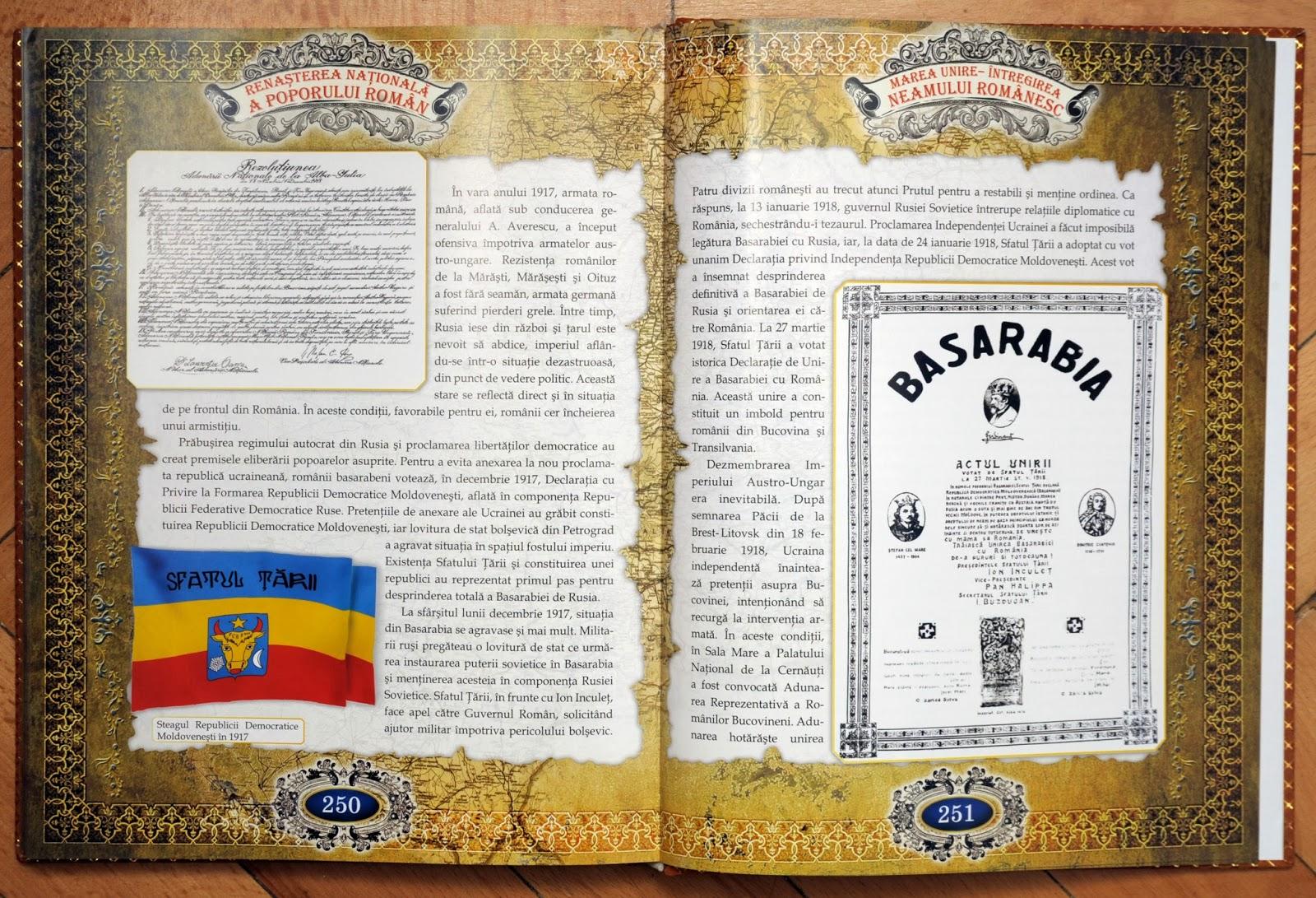 Istoria neamului romanesc - act unire fotocopiat