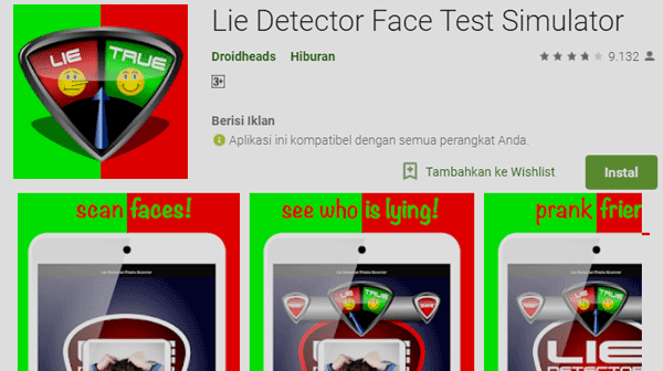 Lie Detector Face Test Simulator