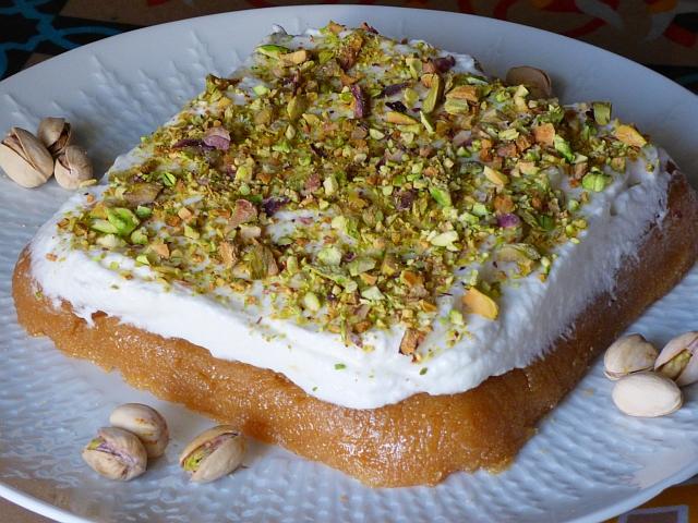 Aish Aisch Saraya Rezept Arabisches Dessert Ramadan