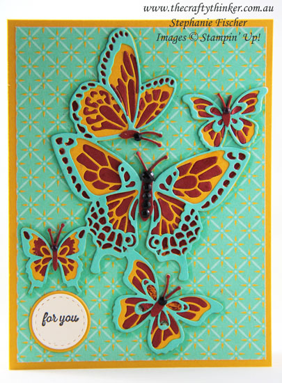 #thecraftythinker #stampinup #butterflybeauty #cardmaking #paperpiecing , Butterfly Beauty, Paper Piecing, Stampin' Up Australia Demonstrator, Stephanie Fischer, Sydney NSW