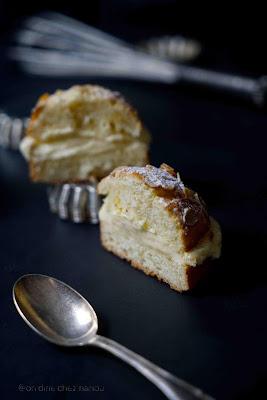 tarte tropézienne , dessert patissier , crème au beurre , trèes beau dessert