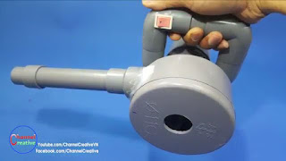membuat sendiri mesin blower angin super kuat dari PVC
