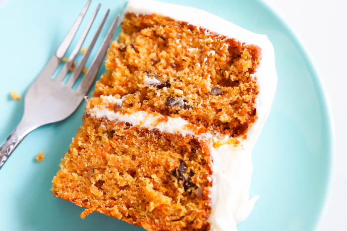 favorite carrot cake with cream cheese frosting