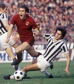 Graziani is brought down by Juventus defender  Gaetano Scirea during a Turin derby in 1976-77