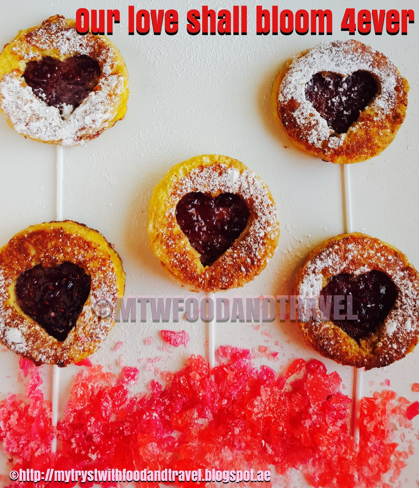 Instant Doughnuts Recipe ~ Celebrating Valentine's Day With A Platter of Edible Love