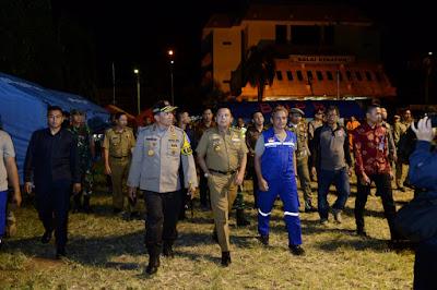 Malam Tahun Baru, Gubernur Ridho Tetap Pastikan Kondisi Pengungsi Dalam Keadaan Baik