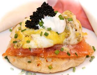 Caviar Potatoes with Gravlax