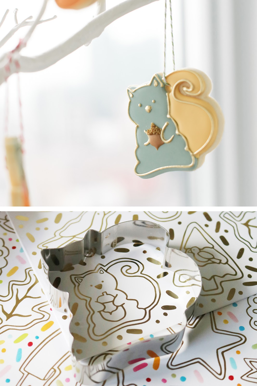 squirrel cookie by Emma's Sweets using a cookie cutter from How Sweet Is That