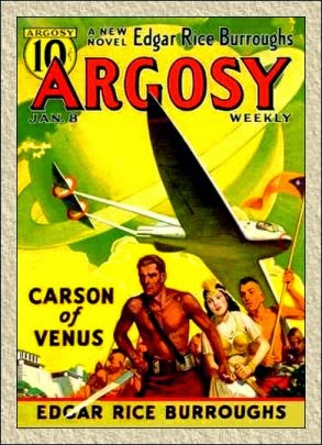 Cover of Argosy magazine issue where the story originally began publishing - first of the 6 parts.