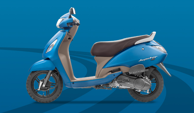 TVS Jupiter Blue Colour