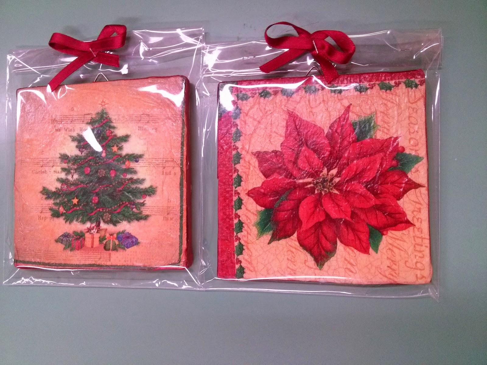 Lavoretti Di Natale Scuola Primaria Decoupage.Lamiaula Quadretti Di Legno Decoupage Natale 2014