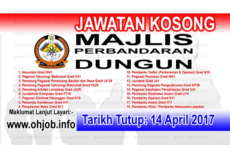 Jawatan Kerja Kosong MPD - Majlis Perbandaran Dungun logo www.ohjob.info april 2017