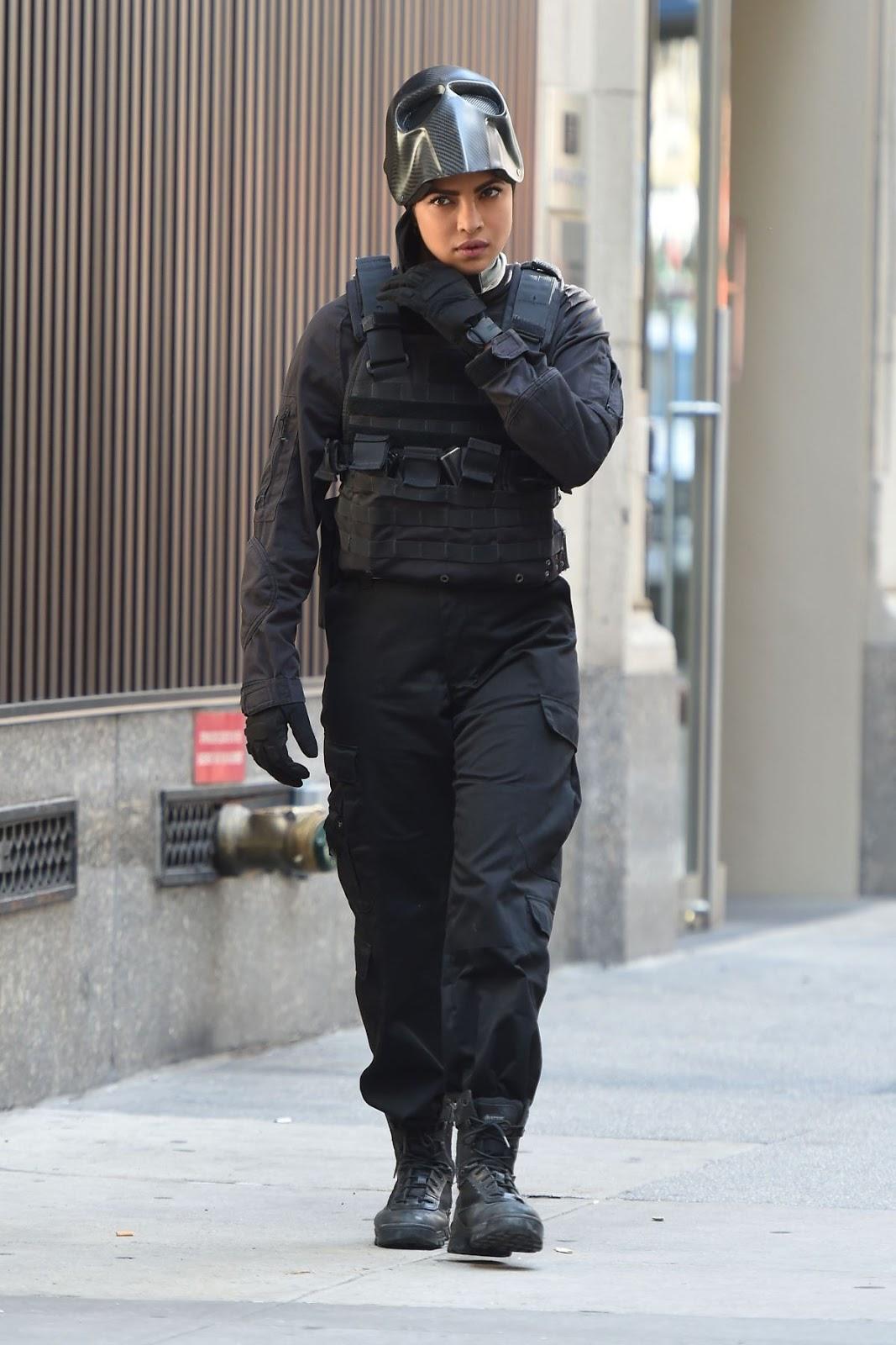 Priyanka Chopra on The Set of Drama Series Quantico in New York