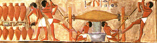 Painting from tomb of Puyemre, Thebes, Egypt. 15th century BC