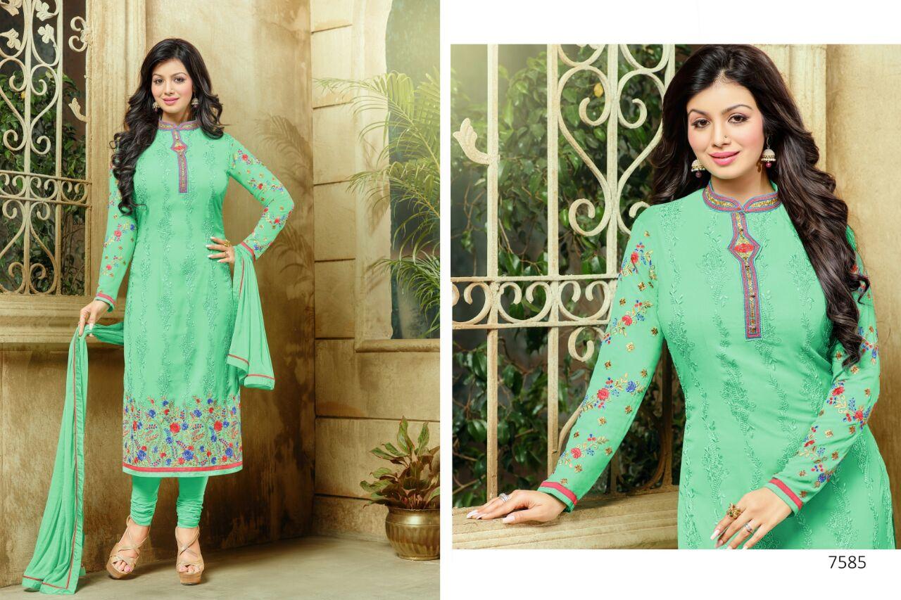 Zisa-29- Latest Fashion Designer Georgette Salawar Suit