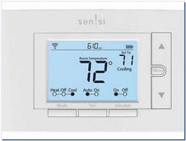 Sensi wi-fi programmable digital thermostat for smart home - up500w