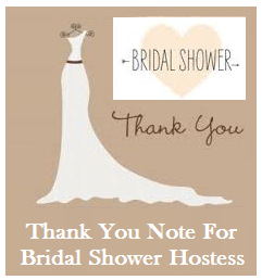 Thank You Notes For Bridal Shower Gifts Wording : ... wording for bridal shower hostess sample bridal shower thank you notes