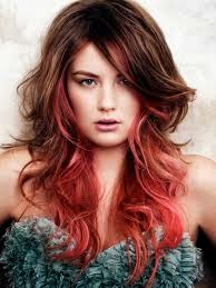 los tonos rojos vibrantes para pelo largo 2015