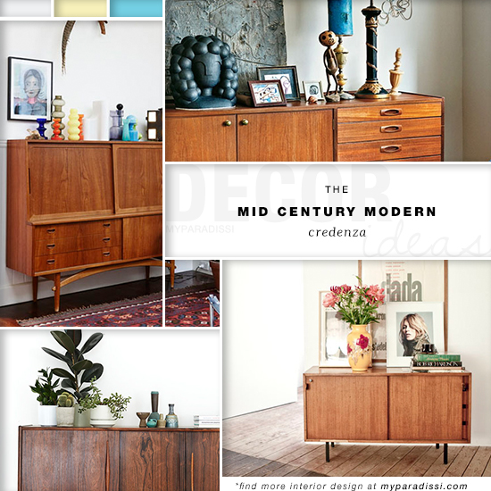 Decor trend: The mid century modern credenza