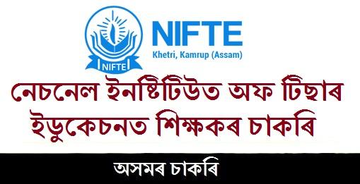 Teacher Job at National Institute of Teacher Education
